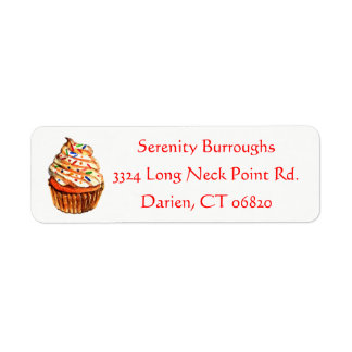 Cupcake Frosting Bakery Wedding Party Label
