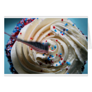 Cupcake frosting with an American flag Card