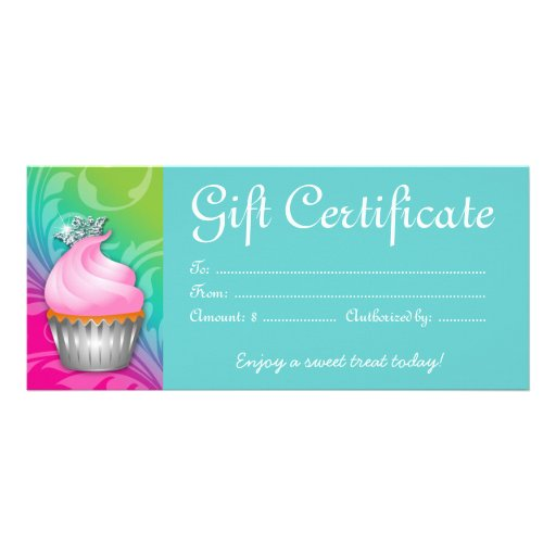 Blue gift certificate template cupcake gift certificate crown pink blue rack card template zazzle yelopaper Images