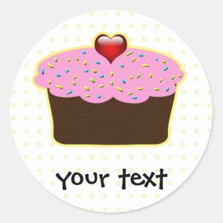 cupcake gifts round sticker