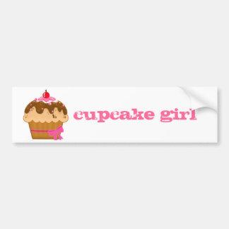 cupcake girl bumper sticker