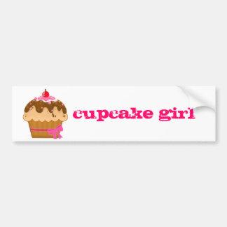 cupcake girl bumper sticker...in hot pink bumper sticker