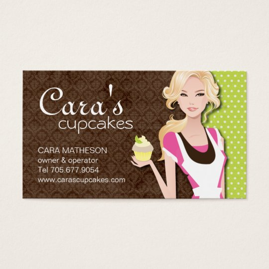 Cupcake Girl Business Cards
