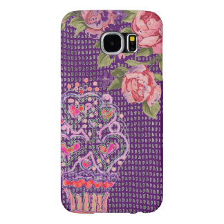 Cupcake Girly Pink Purple Phone Case, Samsung Galaxy S6 Cases