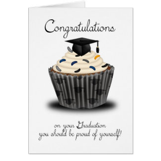 Cupcake Graduation Congratulations Greeting Card