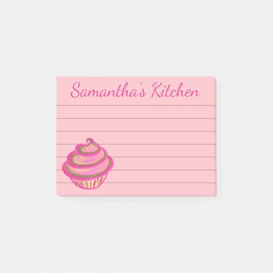 Cupcake Grocery Shopping List Post It Notes Gift
