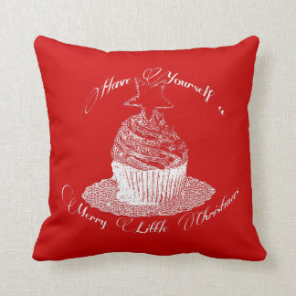 Cupcake/Have Yourself a Merry Little Christmas Pillow