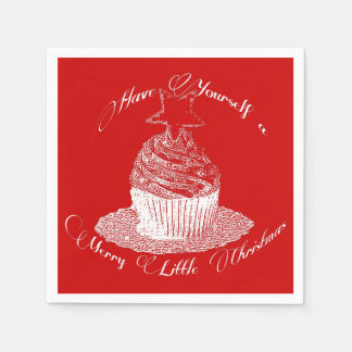Cupcake/Have Yourself a Merry Little Christmas Disposable Napkins