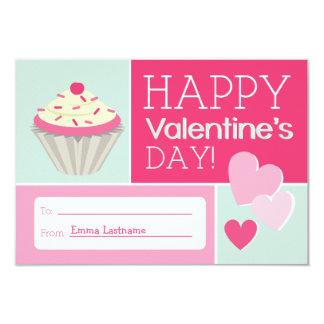Cupcake & Hearts Kids School / Classroom Valentine Announcements