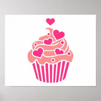 Cupcake hearts poster