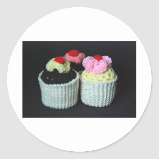 cupcake heaven round stickers