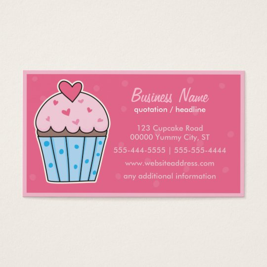 CUPCAKE (hot pink) Business Card