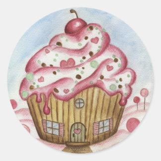 Cupcake House Sticker