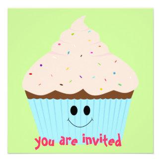 Cupcake Invitation pink