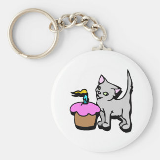 Cupcake Kitty Key Chains