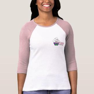 Cupcake Lady Baseball Shirt in Pink