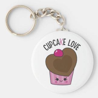 Cupcake Love Basic Round Button Key Ring