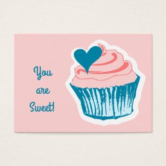 Cupcake Love custom classroom Valentine's Business Card