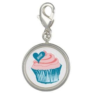 Cupcake Love custom monogram charm / bracelet