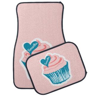 Cupcake Love custom name car floor mats