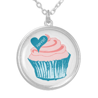 Cupcake Love custom name necklace