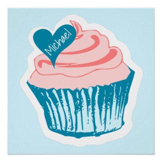 Cupcake Love custom name poster