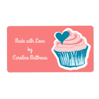 Cupcake Love custom text labels
