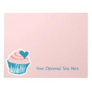 Cupcake Love custom text notepads