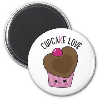 Cupcake Love 6 Cm Round Magnet