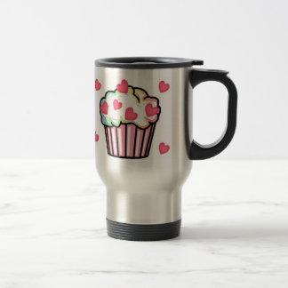 Cupcake Love Stainless Steel Travel Mug