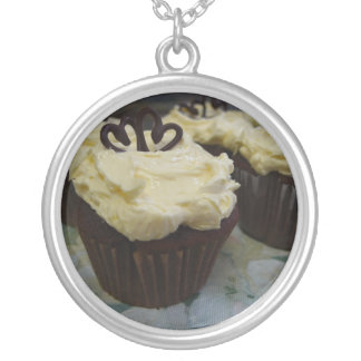 Cupcake Love Round Pendant Necklace