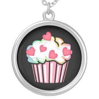 Cupcake Love Round Pendant Necklace