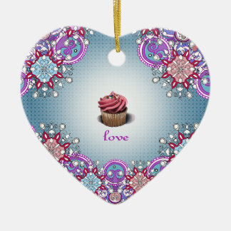 Cupcake Love Ornament