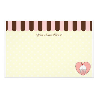 Cupcake Love Stationery Paper