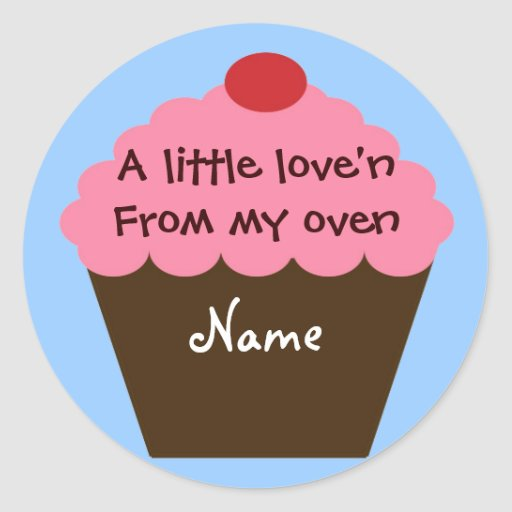 Cupcake Love Sticker