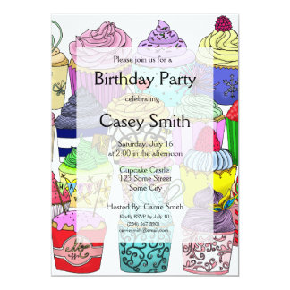 Cupcake Lover Birthday 13 Cm X 18 Cm Invitation Card