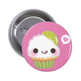 Cupcake Mania! Coconut! 6 Cm Round Badge