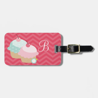 Cupcake Mania Personalized Luggage Tag