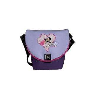 Cupcake Mouse (Dalmation Suit) Messenger Bags
