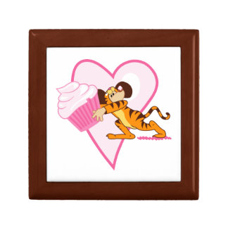 Cupcake Mouse (tiger suit) Small Square Gift Box