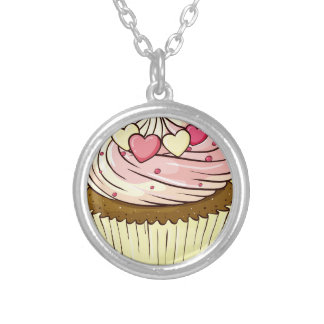 Cupcake Round Pendant Necklace