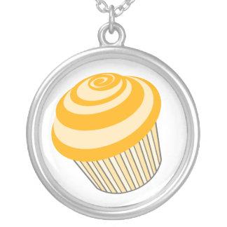Cupcake Necklace - Orange Cupcake