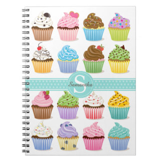 Cupcake Note Book Personalized