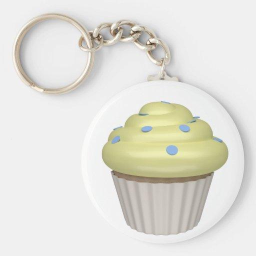 Cupcake of lemon keychains
