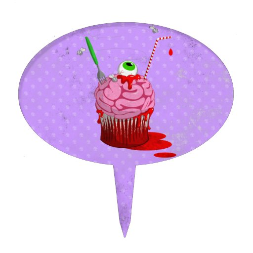 Cupcake Of The Dead Oval Cake Topper