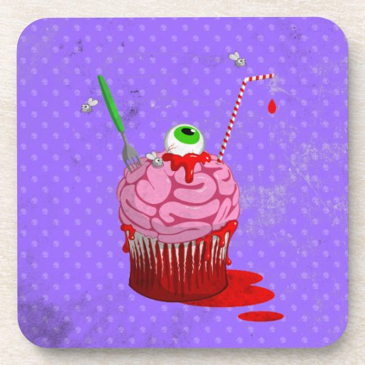 Cupcake Of The Dead Drink Coaster