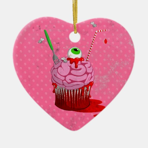 Cupcake Of The Dead Christmas Ornament
