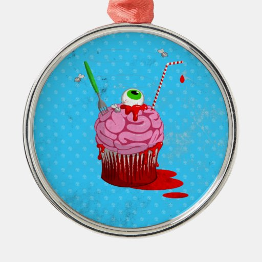 Cupcake Of The Dead Christmas Tree Ornament