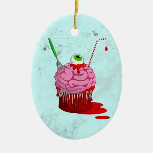 Cupcake Of The Dead Christmas Tree Ornaments