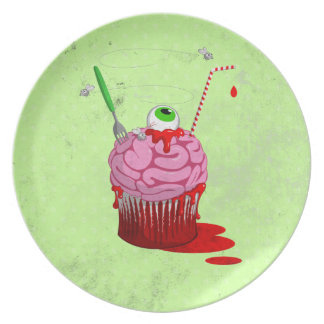 Cupcake Of The Dead Party Plate